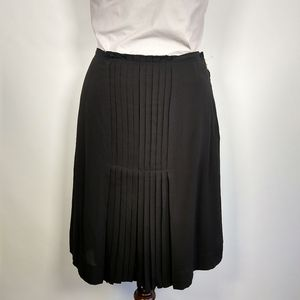Tory Burch silk pleat front skirt 6